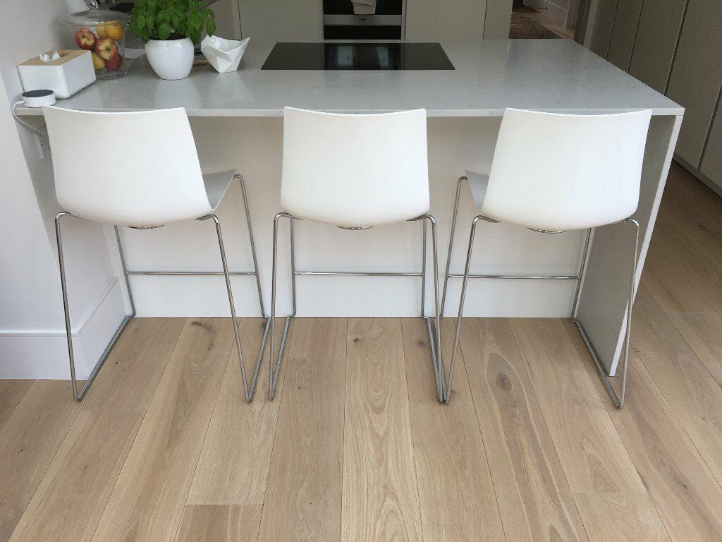 Surprising 3 White Arper Catifa Counter Stools In Hampstead London Gumtree Caraccident5 Cool Chair Designs And Ideas Caraccident5Info