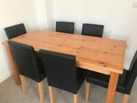 Stanford dining table and 6 chairs