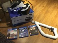 Playstation VR + 3 Games + Aiming Controller