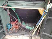 garden storage unit and equipment