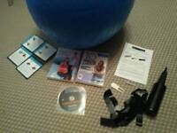 65cm pregnancy/ birth / exercise ball with pump & DVDs