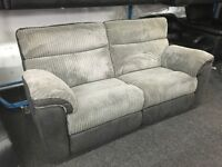 Lazboy Recliners 3 Seater Sofas Grey Half Leather (EX DISPLAY / NEW)