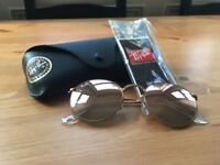 Rayban Round Metal Folding Sunglasses | New, Unworn - Perfect Condition | RRP: £188