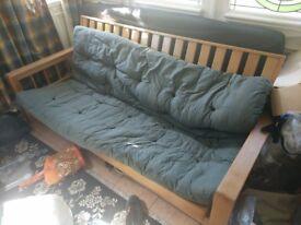 Real wood sofa bed