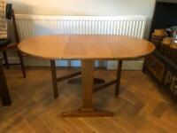 Nathan / Parker Knoll teak drop leaf coffee table mid century vintage