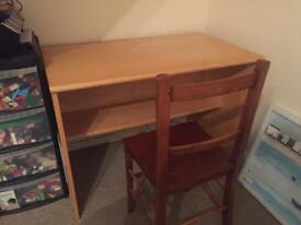 Large desk and chair