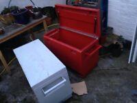 2 x metal security toolboxes for van or garage