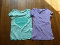 3 girls t shirts from H & M age 12-14 barely worn good used condition