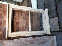 Softwood window frame