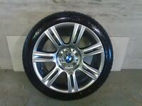 ALLOYS X 4 OF 17 INCH GENUINE STAGGERED BMW 3 SERIES OR 1 SERIES FULLY POWDERCOATED IN SHADOW CHROME