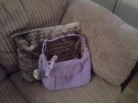 Small Lilac Kipling Shoulder Bag
