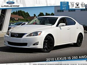 2010 Lexus IS 250 AWD**CUIR*TOIT*BLUETOOTH*A/C**