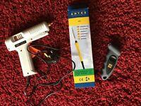 Soldering Iron, Hot Glue Gun and Digital Tyre Pressure Guage