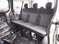 Renault Traffic, Vauxhall Vivaro or Nissan Primastar, rear folding triple seat