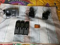 Panasonic answerphone and 3 handsets with new batteries