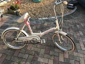 "White folding bike bicycle 3 speed 20"" wheels"