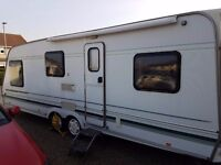 SWIFT CONQUEROR 640 TWIN AXEL CARAVAN 5 BERTH WITH FIAMMA AWNING 1998/99