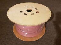 2C 1.5mm2 LSNH speaker cable 2 core pink 100m (2 reels)