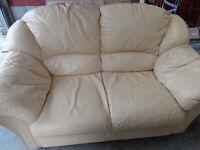 2 x Two Seater Sofas Yellow
