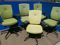 Senator designer green chairs x 3 available (Delivery)