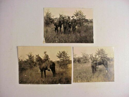 13 Antique c 1910s PA STATE POLICE Mounted Troopers PHOTOS from Wyoming Barracks