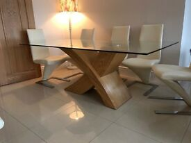 200x100 glass dining room table