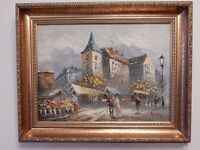 ORIGINAL OIL PAINTING ON CANVAS - LOVELY FRAME - PERFECT CONDITION