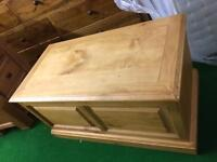 Pine and oak blanket boxes
