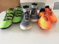 Nike and Adidas Football sock trainers