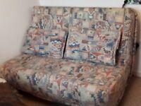 Metal Framed Sofa Bed + 2 matching cushions