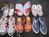Bundle of size 1 and 2 girls shoes