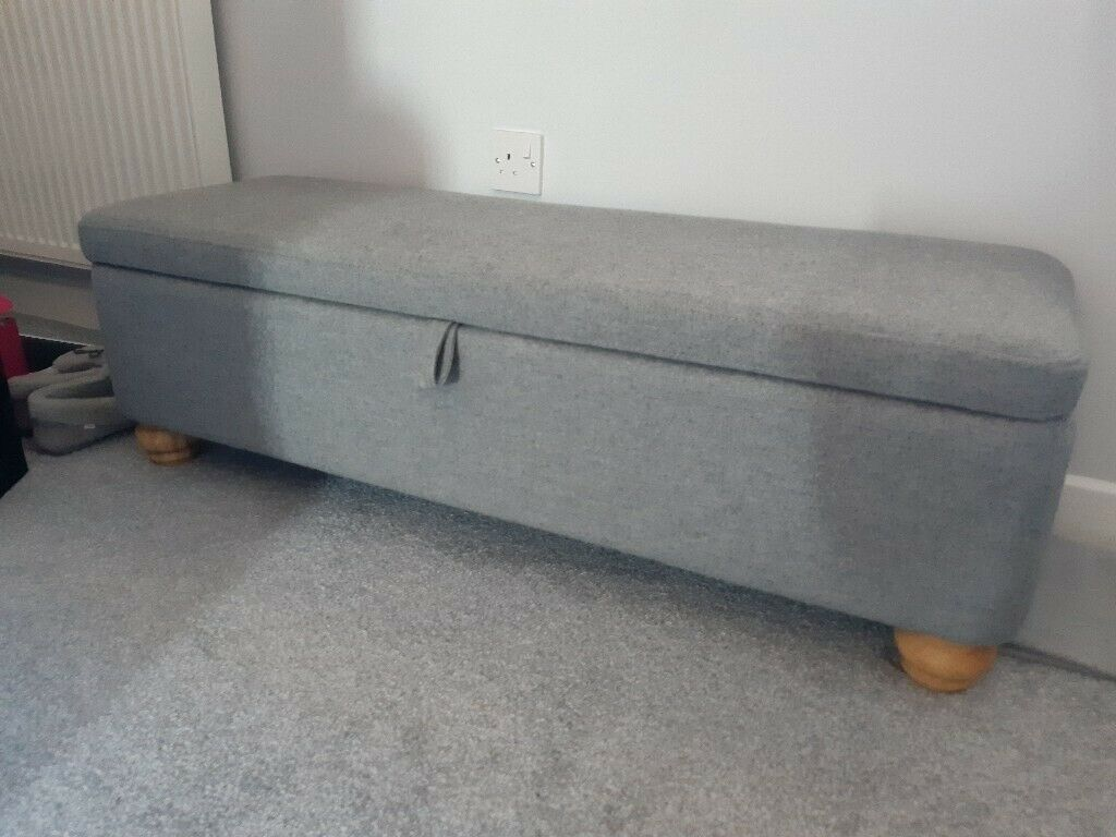 Amazing Like New Next Ottoman Storage Trunk For End Of Bed Grey Upholstered In Highwoods Essex Gumtree Gmtry Best Dining Table And Chair Ideas Images Gmtryco