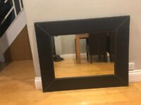 Large rectangle John Lewis faux brown mirror