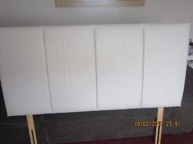 headboard white double, correct measurements listed