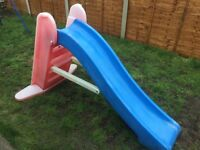 Slide and trampoline