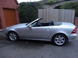 MercSLK230,Convertible, Automatic,Cruise,Sat Nav,Bluetooth,iPhone/iPad,New front wings,141000 miles