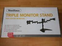 VonHaus Triple Monitor Stand