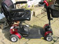 GoGo Elite Traveller LX mobility scooter in Metallic Burgundy.