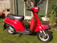 "Fantastic original condition ""low mileage"" Suzuki CS 125cc, too all retro scooter collectors."