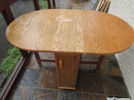 DROP LEG TABLE WITH STORAGE COMPARTMENT 1350cm x 855cm x 750cm