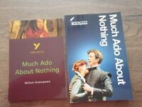 Revision guides. Much ado about nothing. York and cambridge notes as new. No marks.