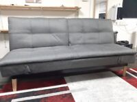 Grey sofa / sofa bed with arm rests, nearly new, good condition, double sofa bed Scandinavian-chic