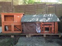 Rabbit Hatch Used for 2 months but in very good condition big enough for 2 rabbits
