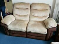 Reclining Sofa set - 2 Sofas and an armed chair