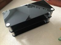 TV Stand for sale, in attractive black glass and in great condition