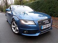 2009 Audi A4 2.0 tdi S-Line automatic saloon blue