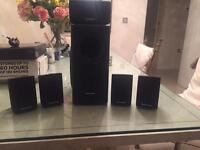 PANASONIC surround sound speakers & Subwoofer