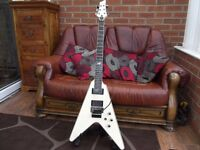 schecter blackjack atx diamond series flying v v1 seymour duncans floyd rose