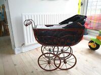 Antique Victorian Dolls Pram
