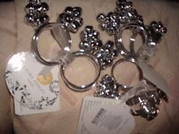 12 Napkin Rings LA with bells on